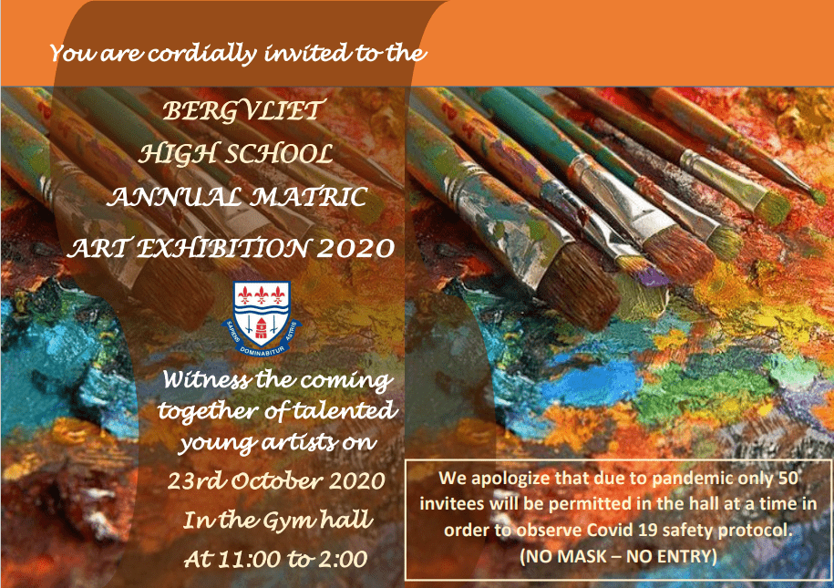 Bergvliet High School Annual Matric Art Exhibition 2020